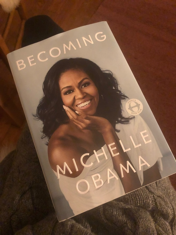 """hardcover book """"Becoming"""" by Michelle Obama"""