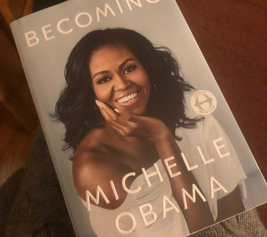 "hardcover book ""Becoming"" by Michelle Obama"