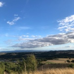 view from la croix in Réalmont, France with stunning clouds